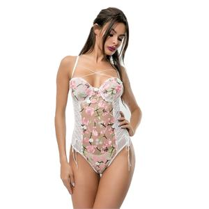 Floral lace jumpsuits one piece bodysuites evening spring jumpsuit women 2021 embroidery teddy lingerie set