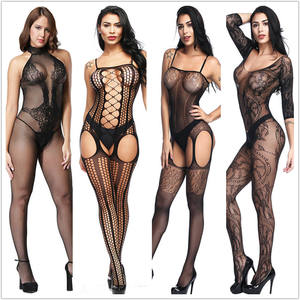 Sexy Lingerie Teddies Bodysuits Hot Erotic Lingerie Open Crotch Elasticity Mesh Body Stockings Sexy Costumes Bodystocking