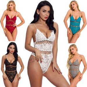 2021 lace stitching circle hole backless sling ladies adult lace teddy mature women sexy lingerie sexy lingerie underwear