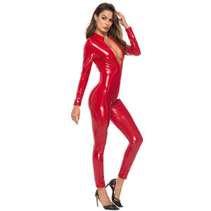 Women Hot Sexy pvc Latex Dress wetlook faux pu leather bandage Lingerie rubber clubwear Catsuit Erotic fetish cosplay Costumes
