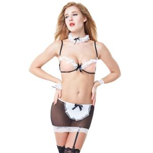 XRG1 Wholeslae lingerie sexy hot transparent maid costume cosplay lingerie
