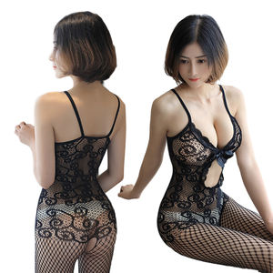 Wholesale hollow out sexy hot Japanese open crotch sexy net stockings lingerie for womens